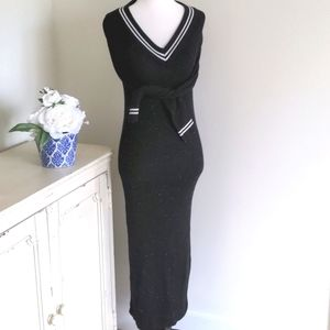 Topshop Sweater Dress Black Maxi Dress Bodycon